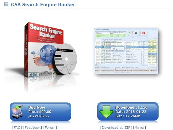 GSA Search Engine Ranker Coupons & Deals
