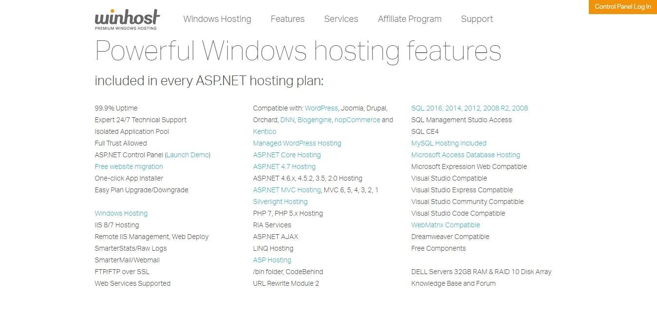 winhost couppons - powerful windows hosting