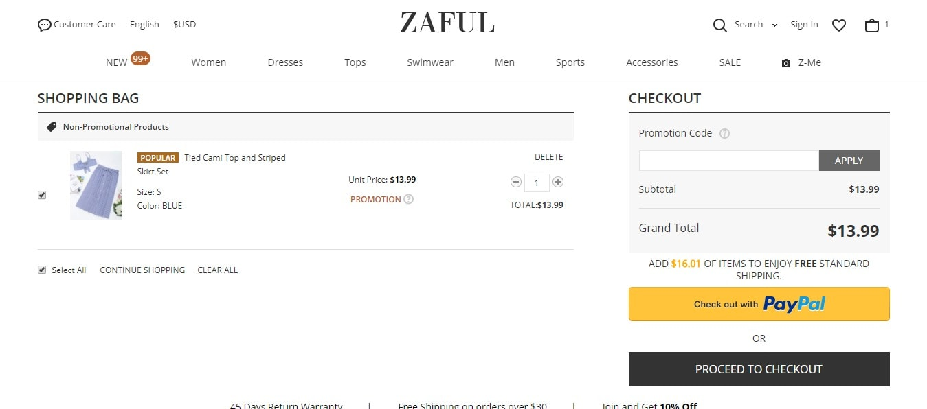 zaful-payment-methods