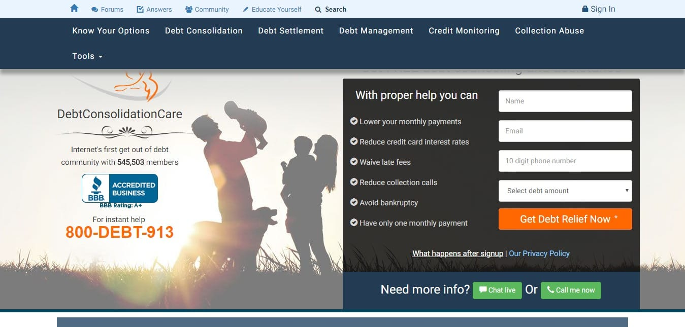 800 Debt 913 affiliate program