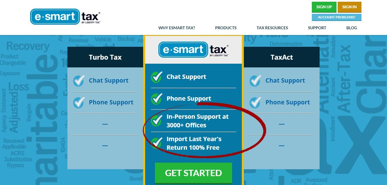 ESmart Tax is Liberty Tax's online tax filing service. It provides you with a convenient, easy-to-use tax filing system. ESmart Tax committed to delivery the highest quality tax experience possible and make online tax preparation as easy as possible for you.