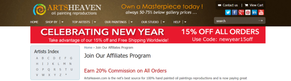 Arts-Heaven-Art-Affiliate-Programs