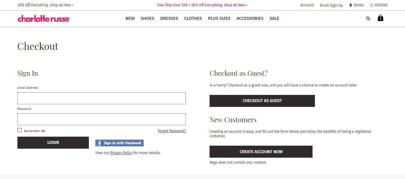 Online coupon codes for charlotte russe