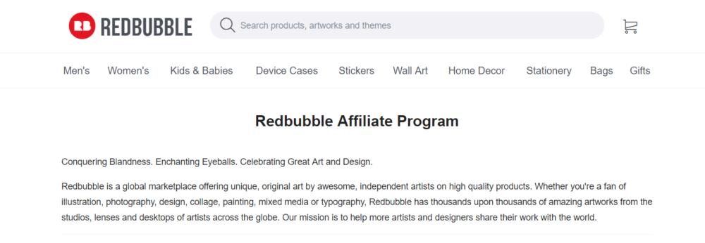 Redbubble-Art-Affilate-Programs