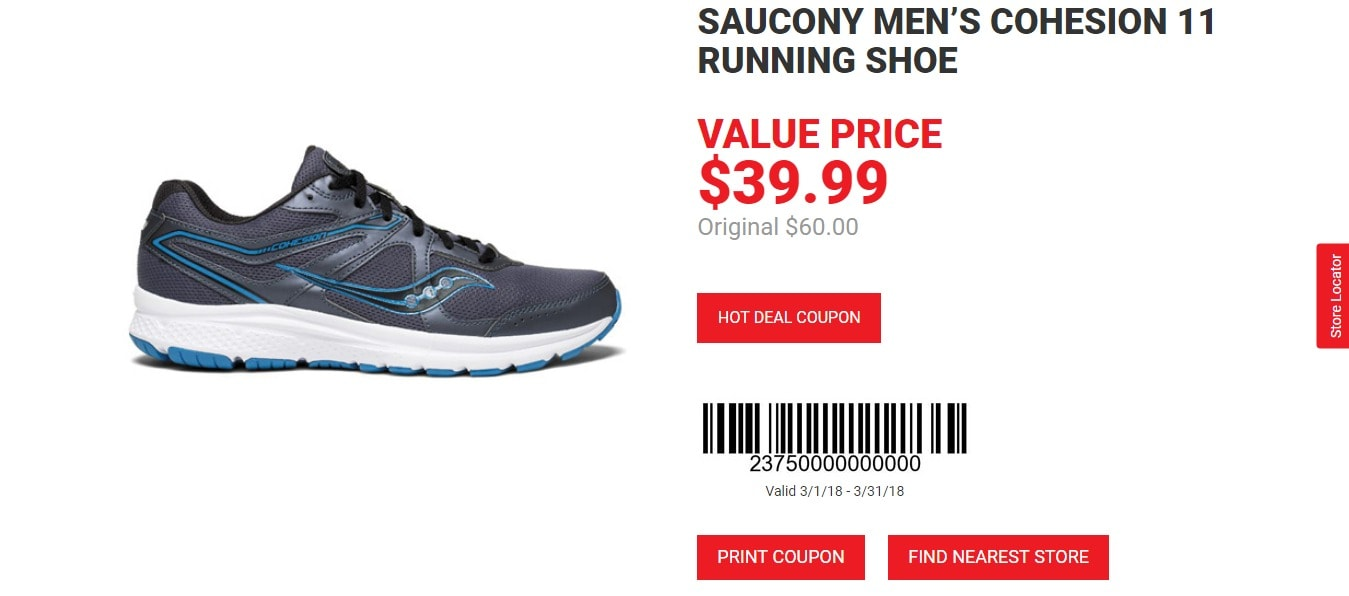 Dunhams weekly ads - Saucony running shoe