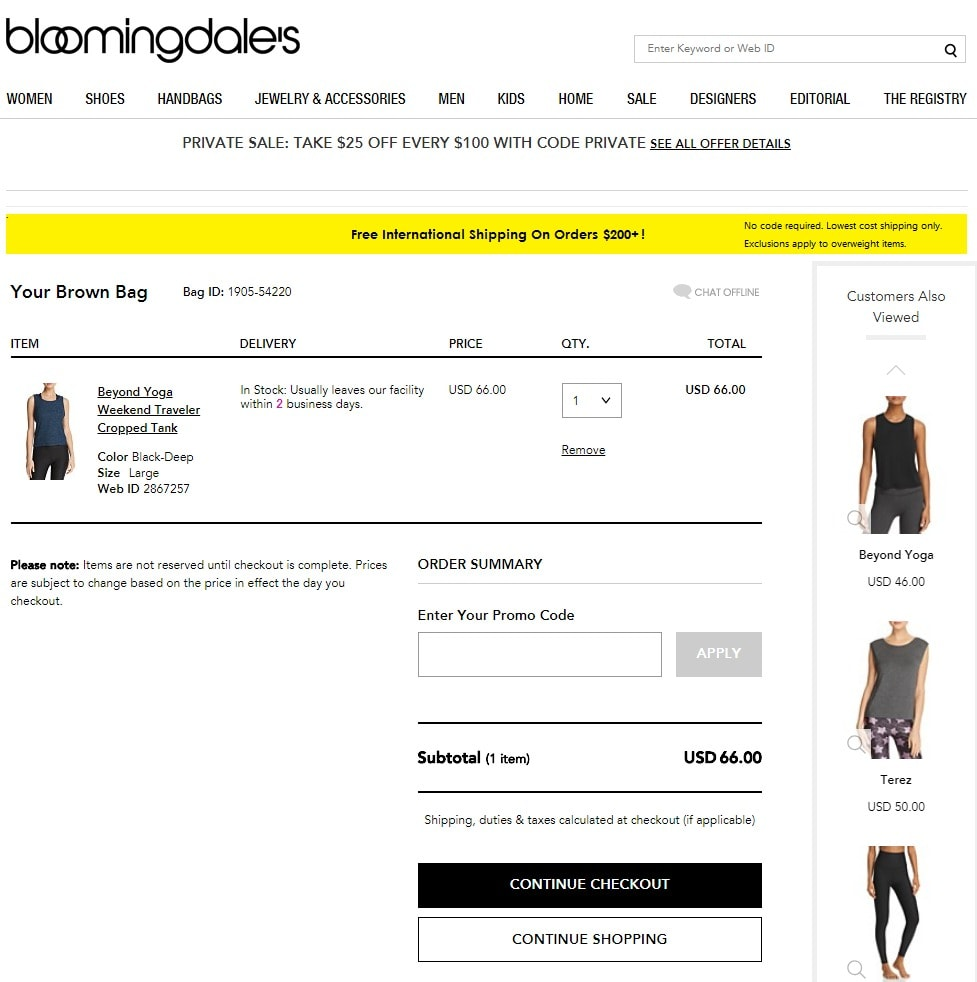 instructions to Use a Bloomingdales Coupon codes: