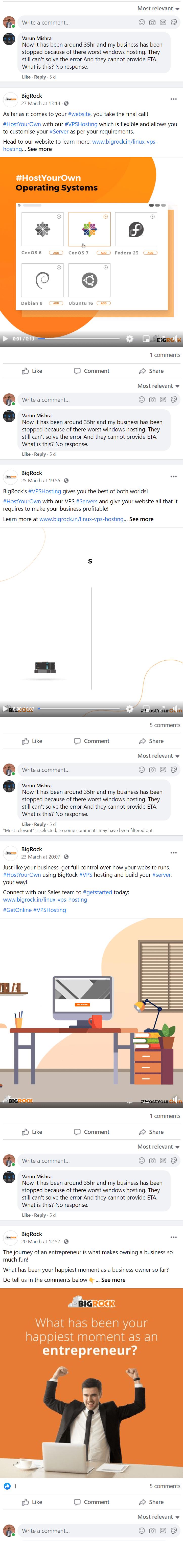 BigRock-Facebook-customer-review
