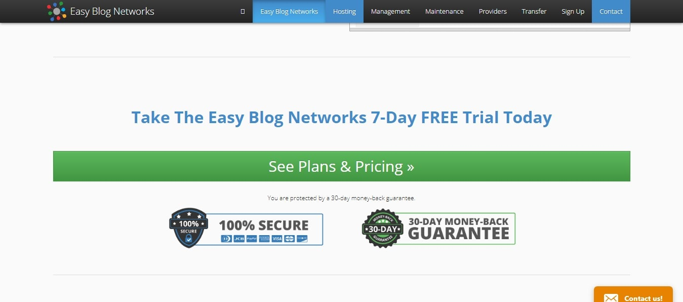 EASY Blog Networks coupon codes - free trail