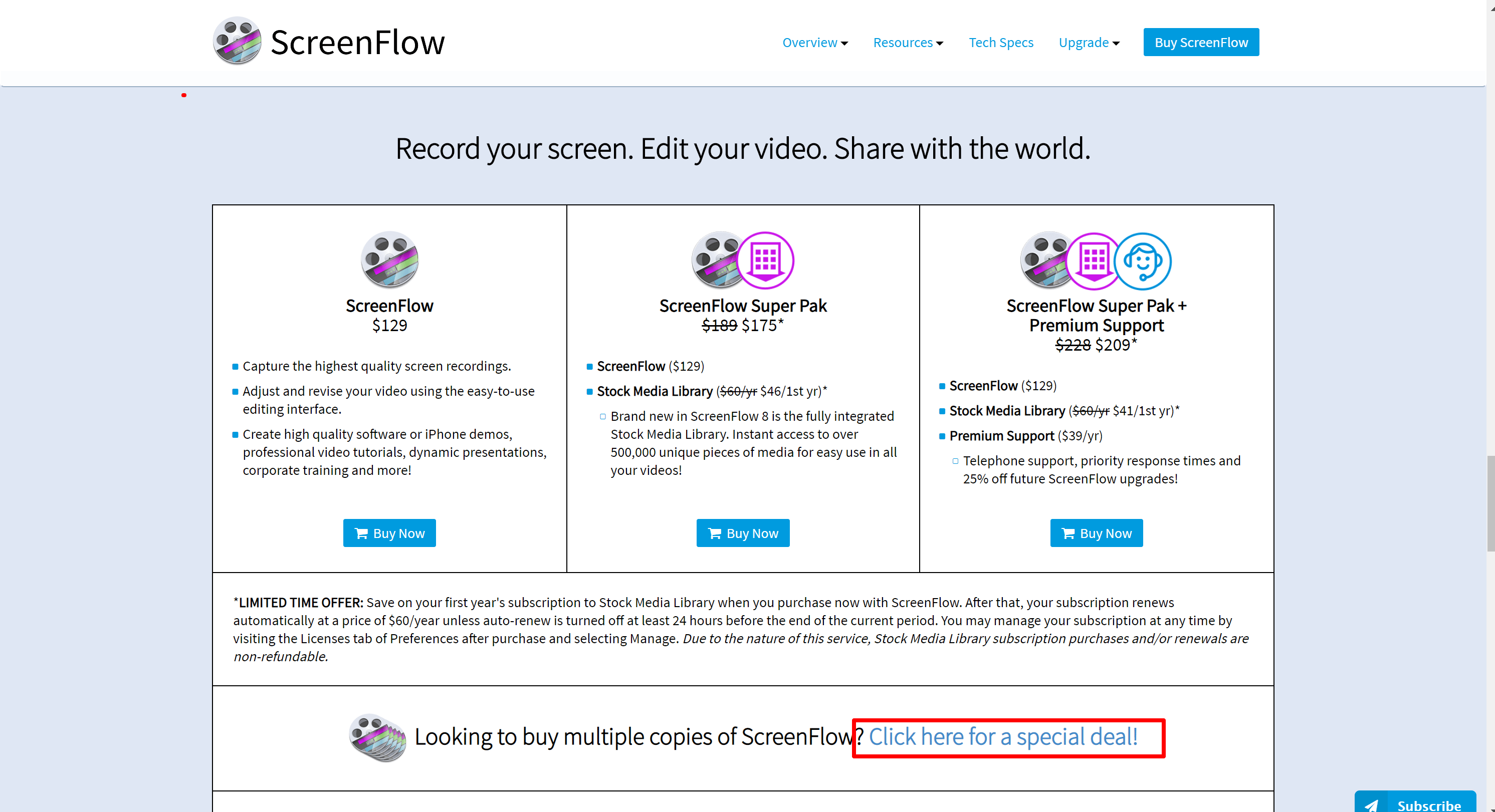 Screenfloww subscription