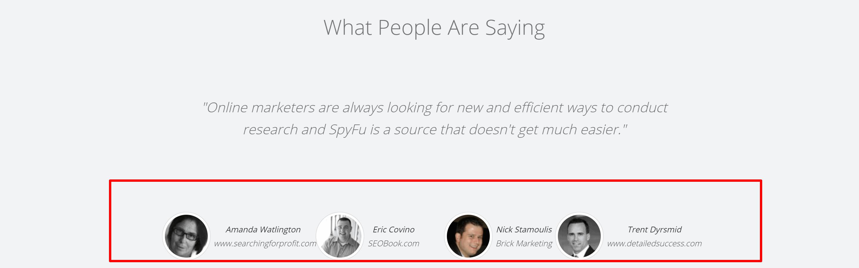 Spyfu reviews and testimonials- spyfu coupon codes