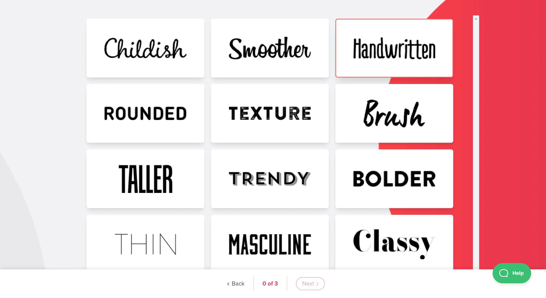 Tailor Brands fonts- Tailor brands review