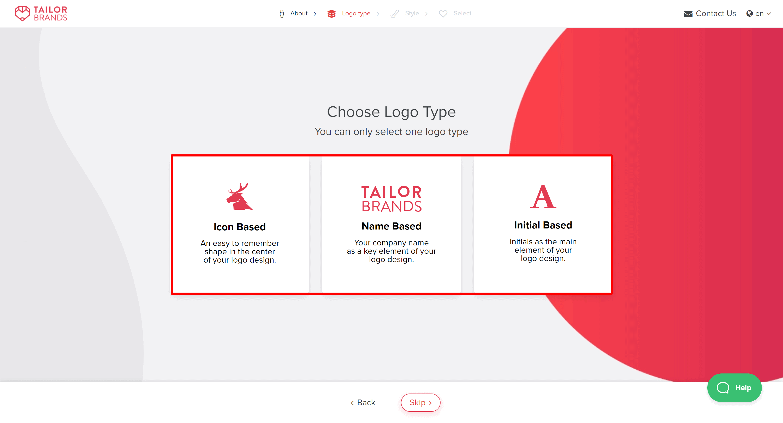 Tailor brands logo type- tailor brands revviews
