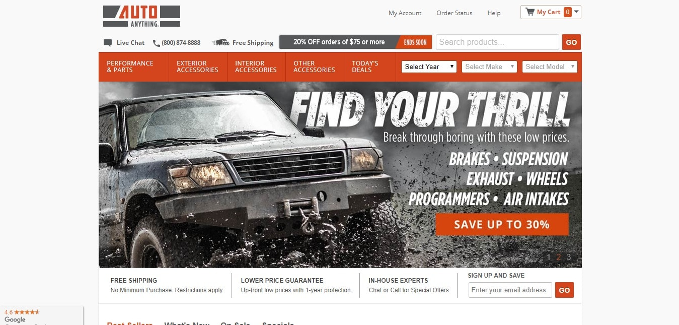 autoanything coupon 15