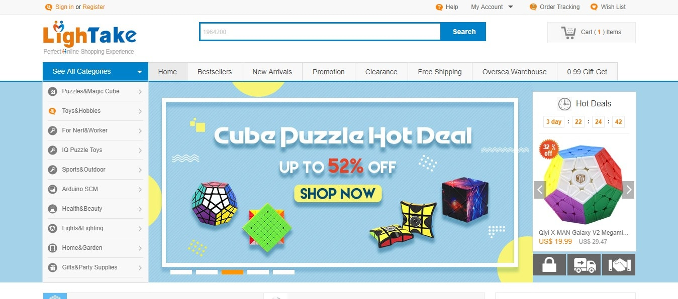B2C online store that supplies its consumers with outstanding merchandises