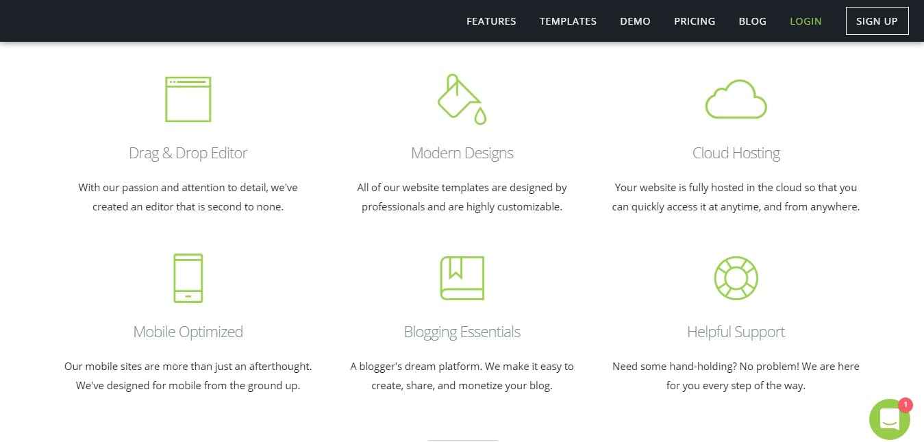 Features Of SnapPage Builder - SnapPage services