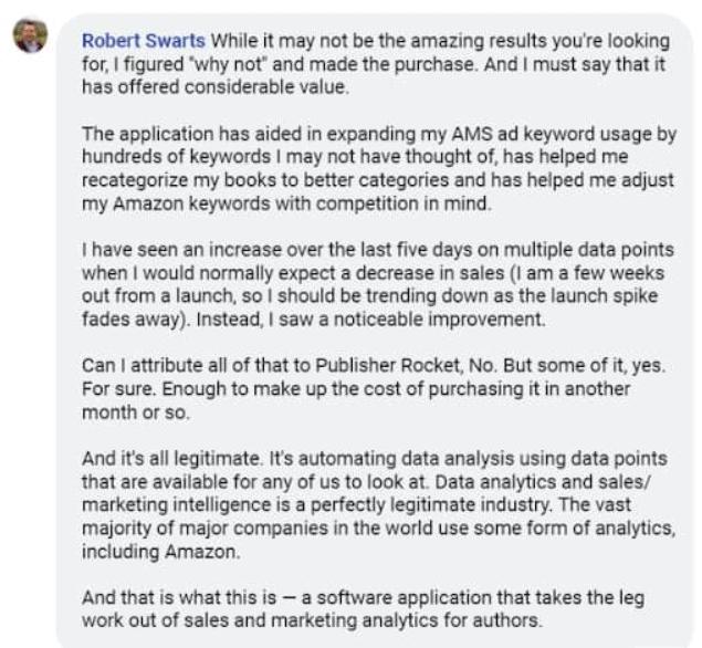 Publisher Rocket User Review 1