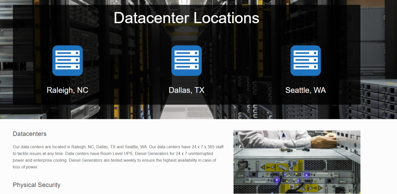 3Essentials Hosting Coupon Codes- Datacenter Locations