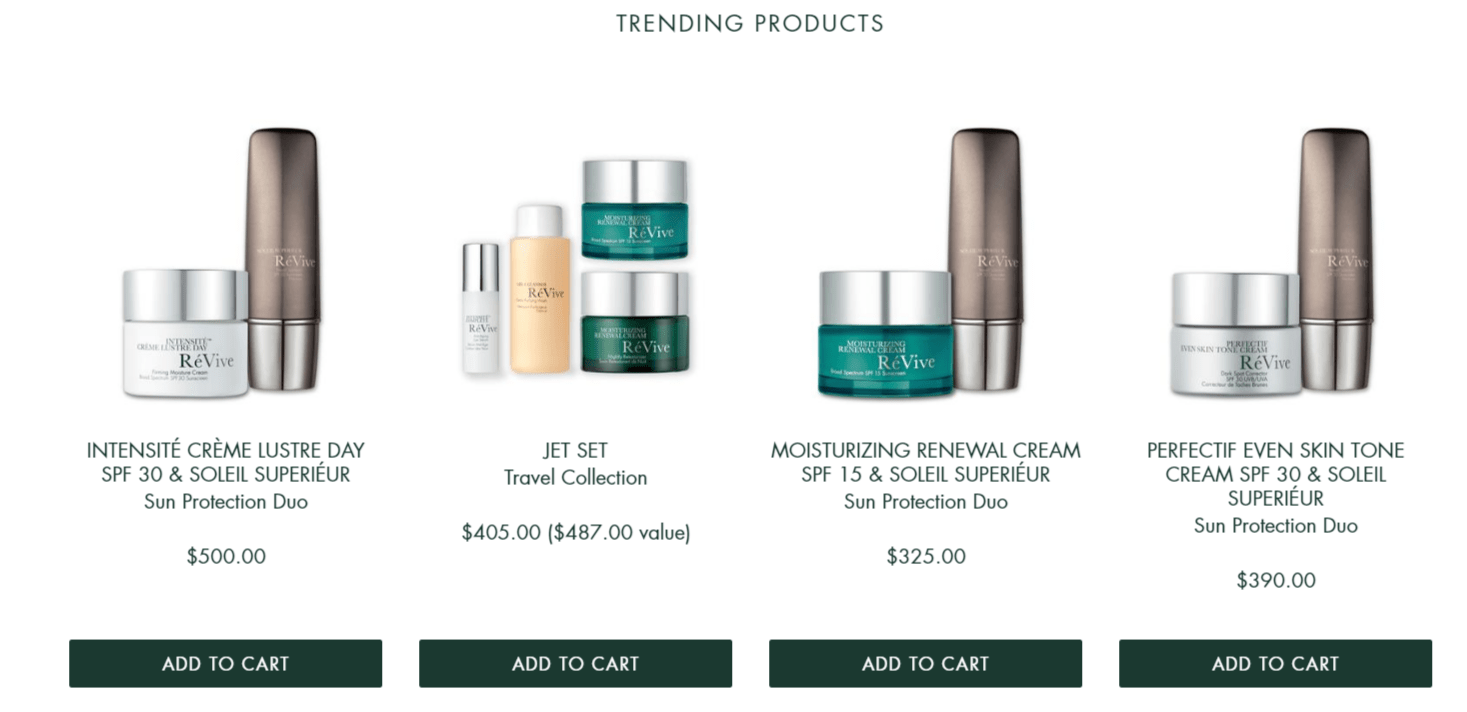 ReVive Skin Care Coupon Codes- Trending Products