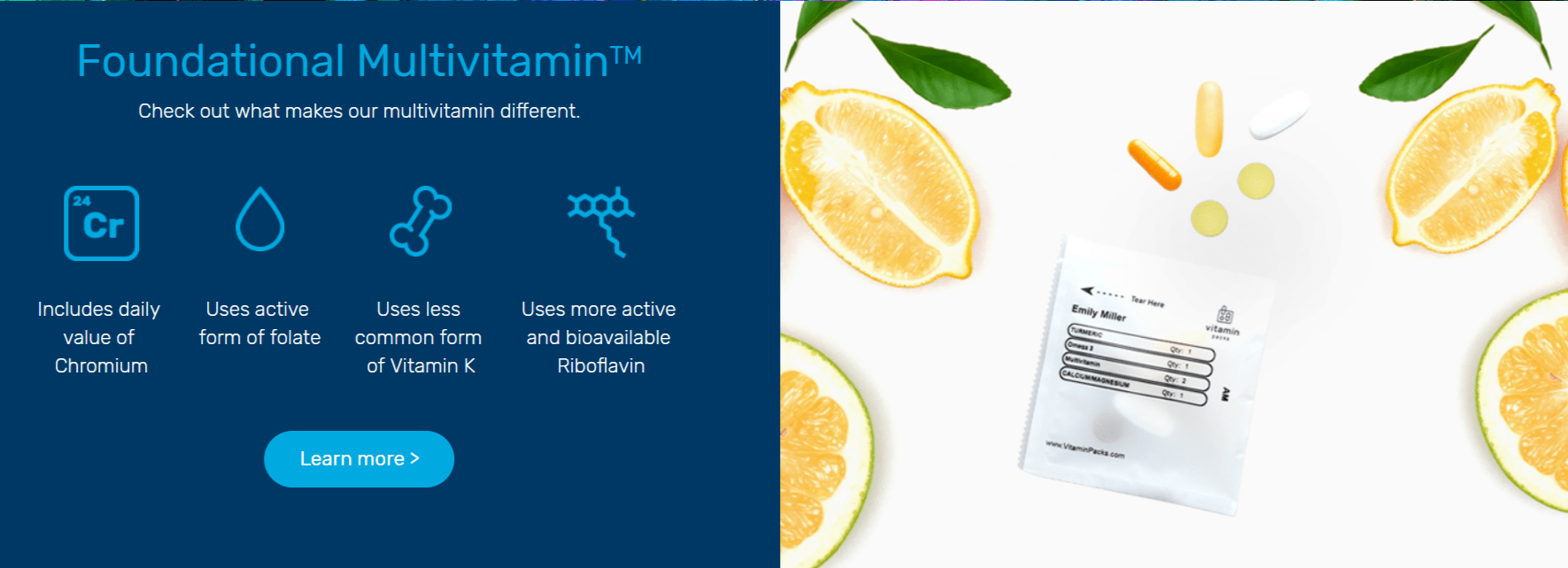 Vitamin Packs Coupon Code- Foundational Multivitamin