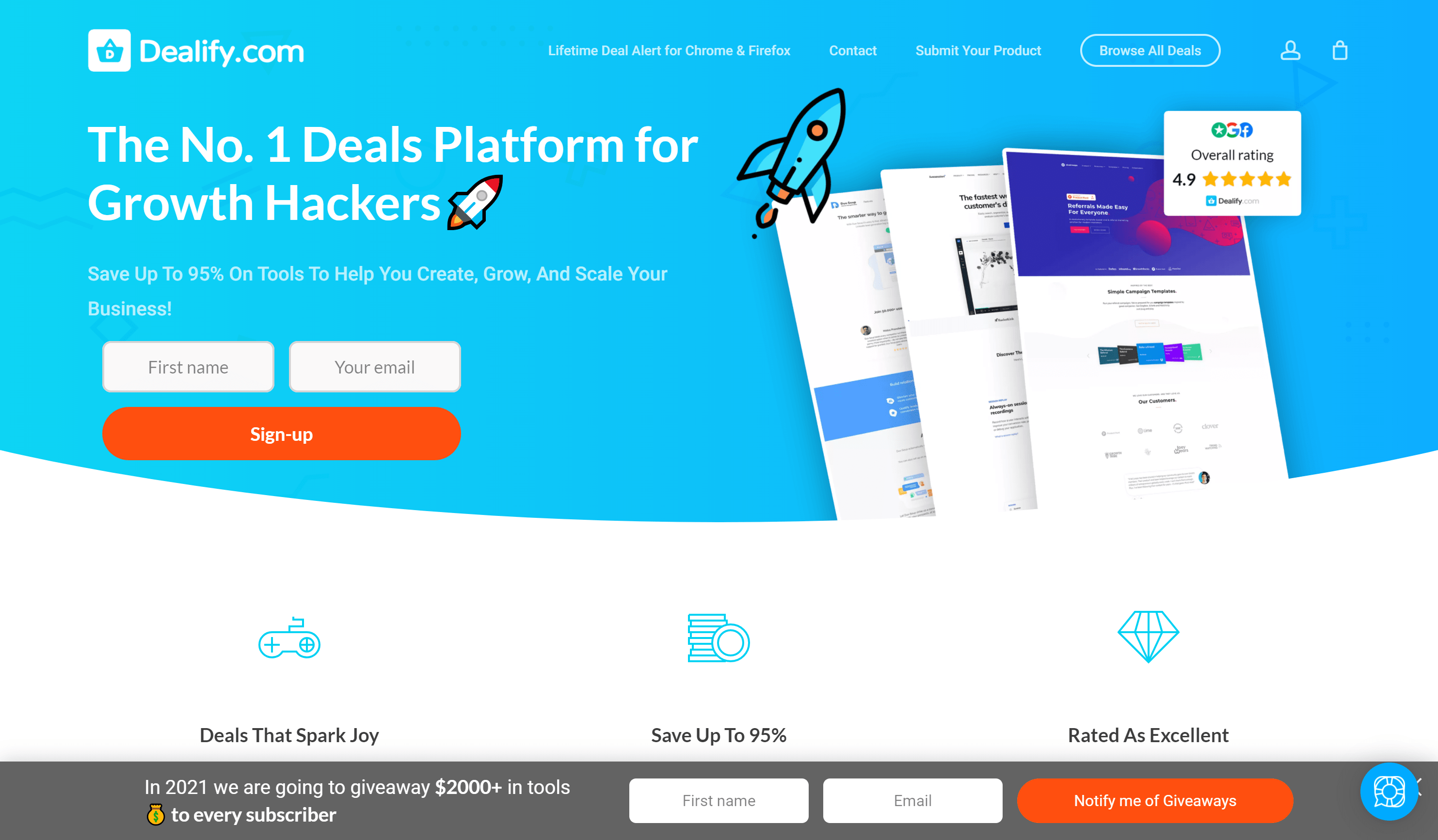 Dealify marketplace- Appsumo coupons and deals