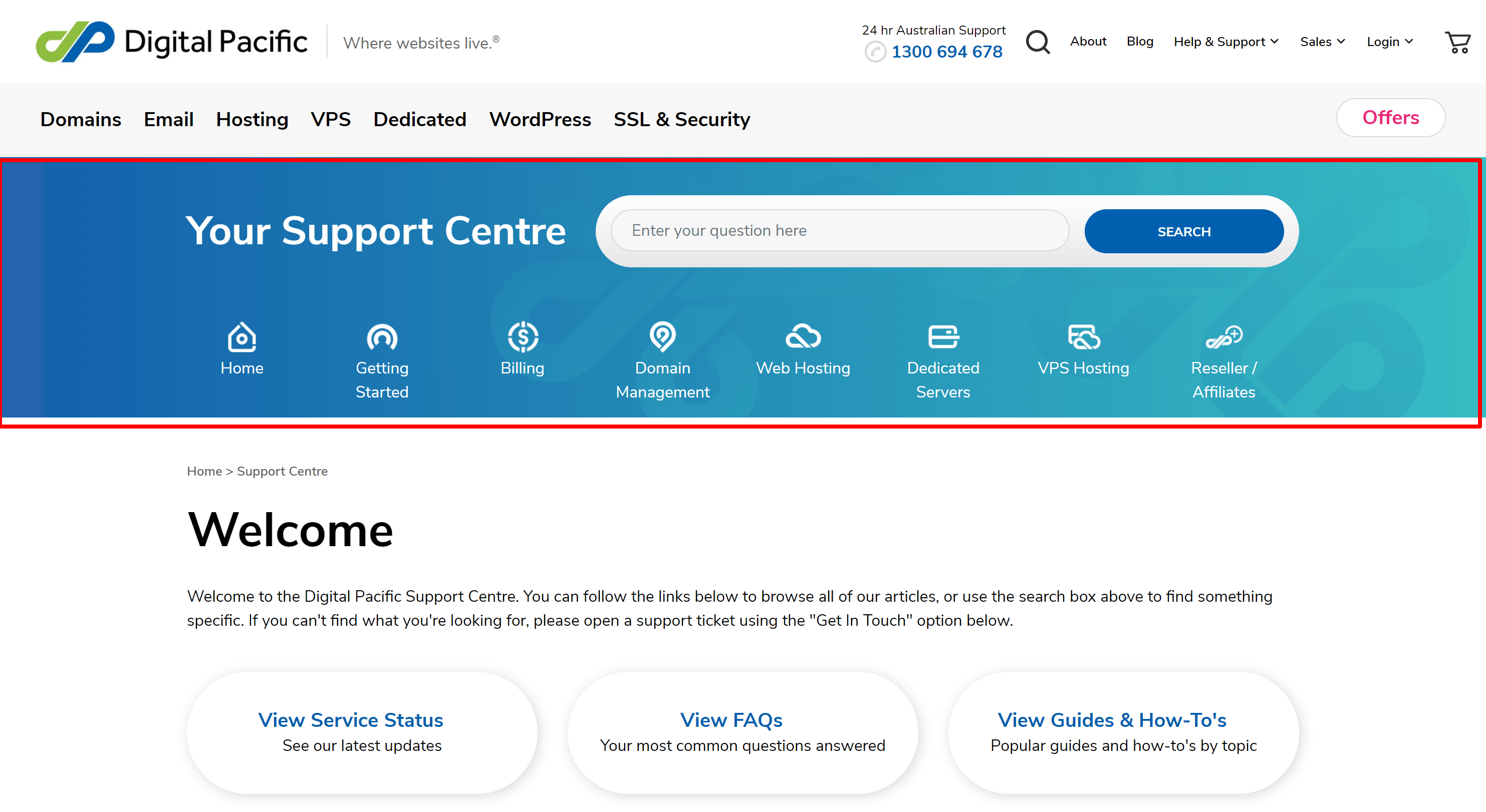 Digital pacific support cemter