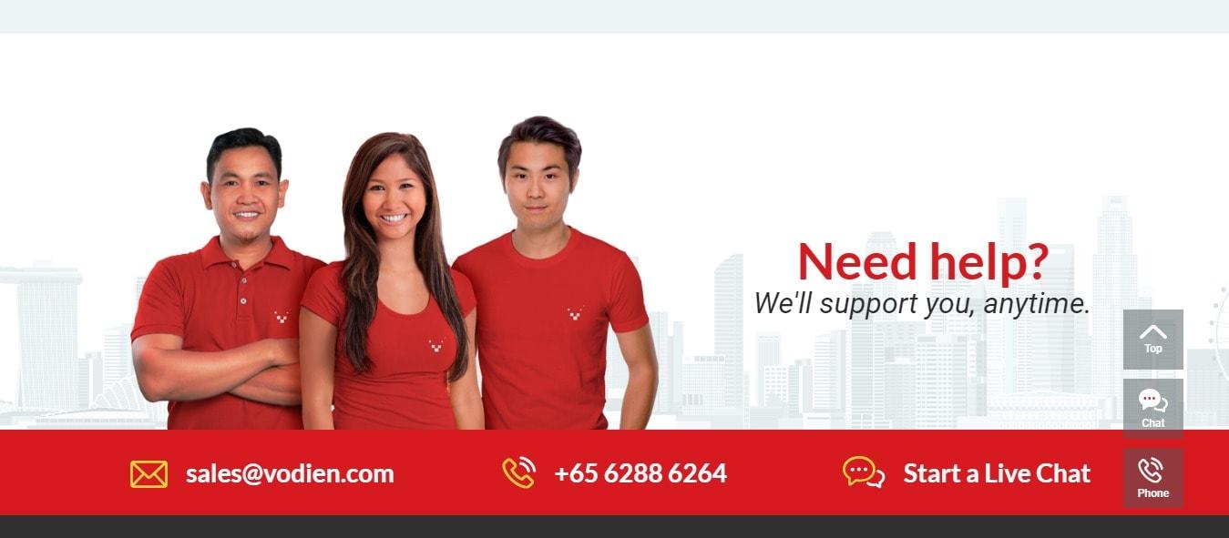 Vodien Customer support