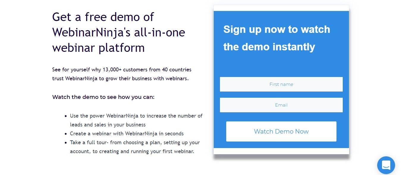 Create a webinar in 10 seconds