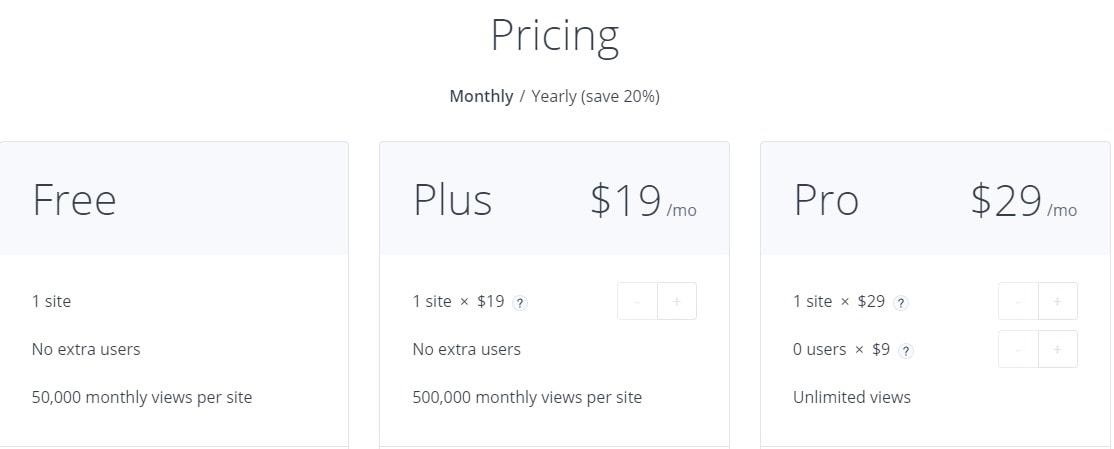 Getsitecontrol Pricing Plans