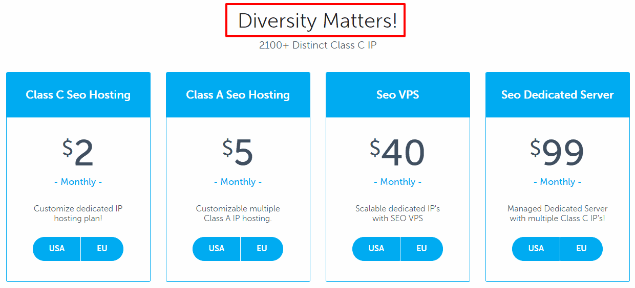 SEOhost Coupons Code - Pricing Policy