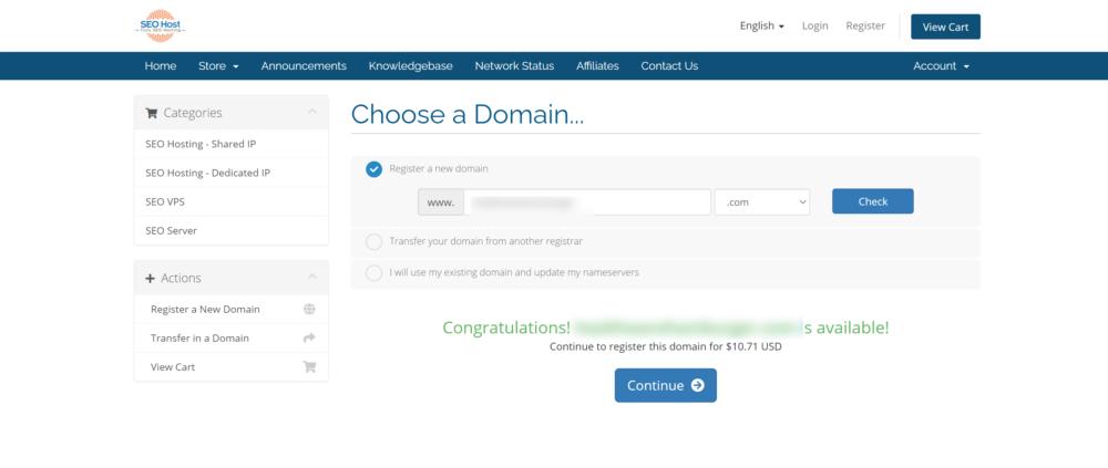 SEOHost domain regisration- SEOhost.com discounts