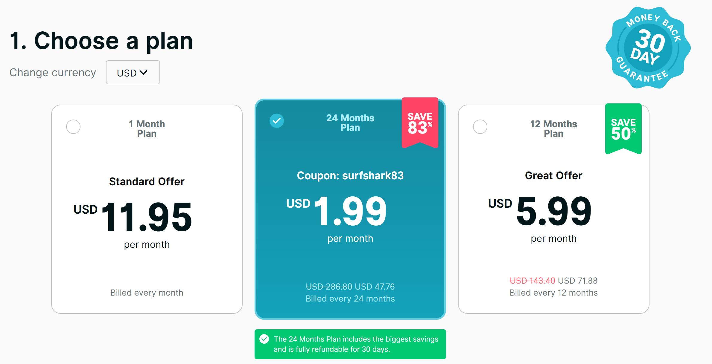 Surfshark VPN discount coupons