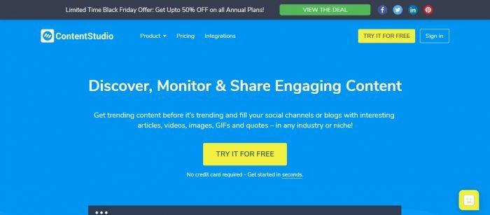 ContentStudio Promo Codes [Updated [August 2019 ]] -50% Off