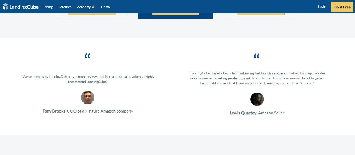LandingCube - Features: