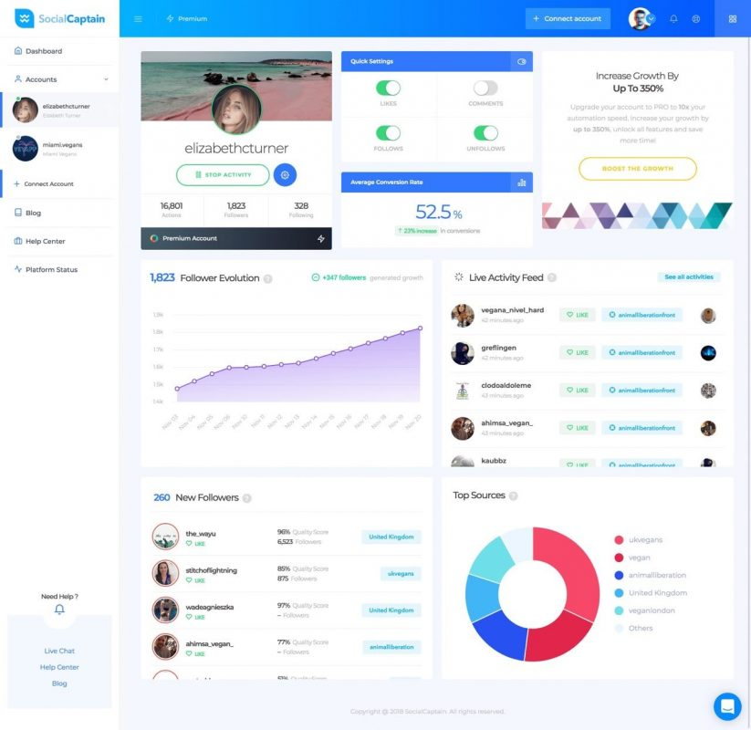 social captain review with features
