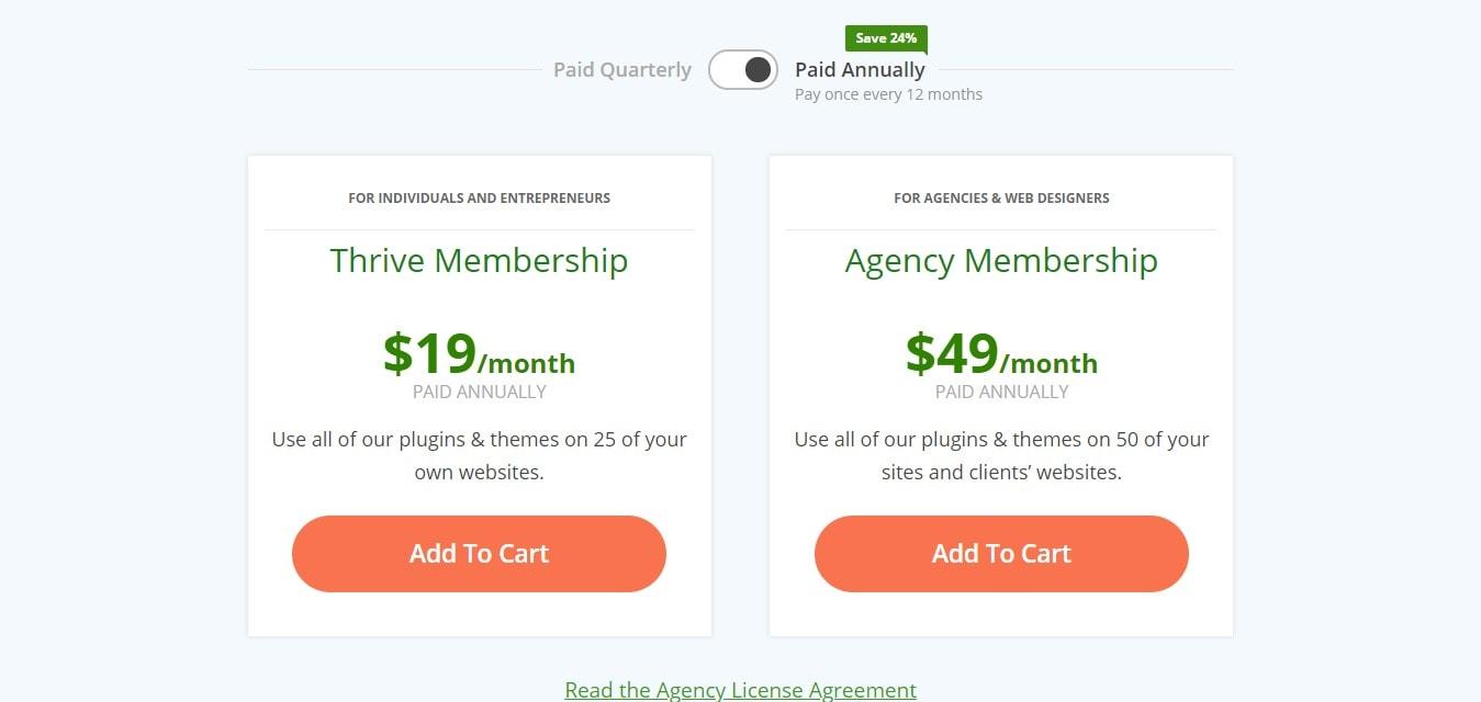 Price - Membership plan