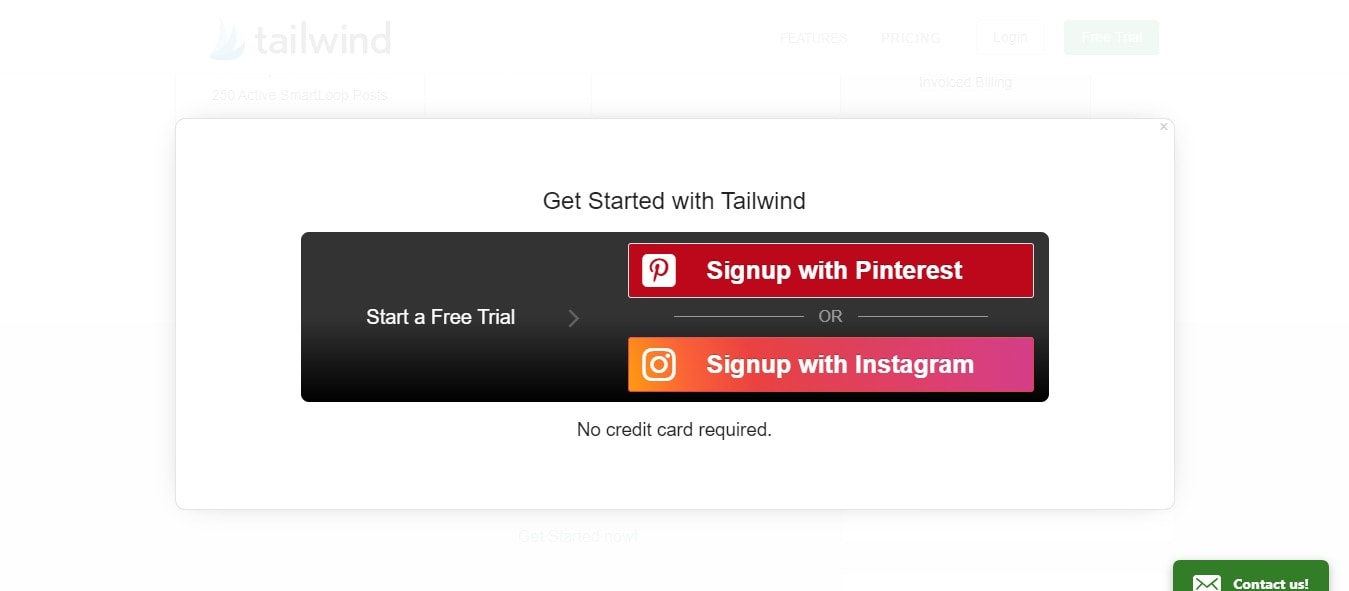 Tailwind discount coupons - Easy Signup