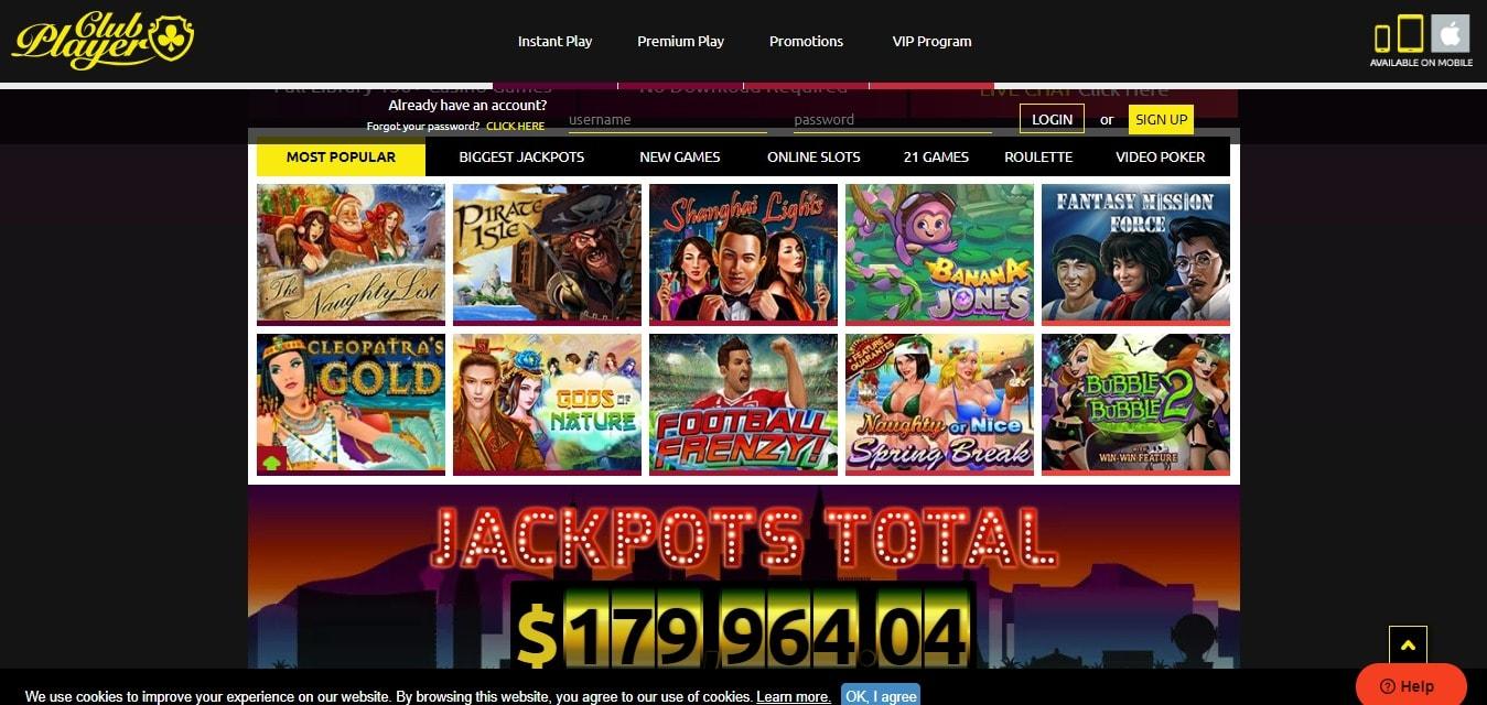 Club Casino Player promo codes