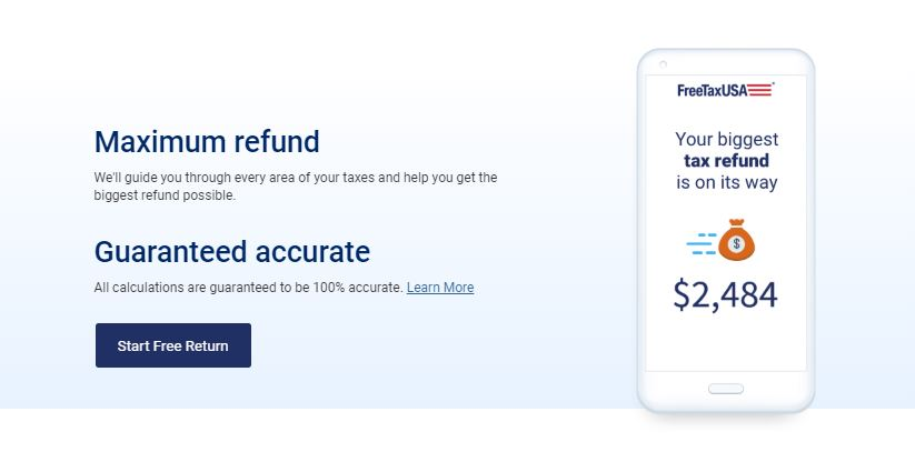 FreeTaxUSA-home-page-price-service-refund