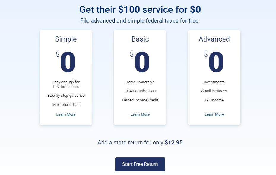 FreeTaxUSA-home-page-price