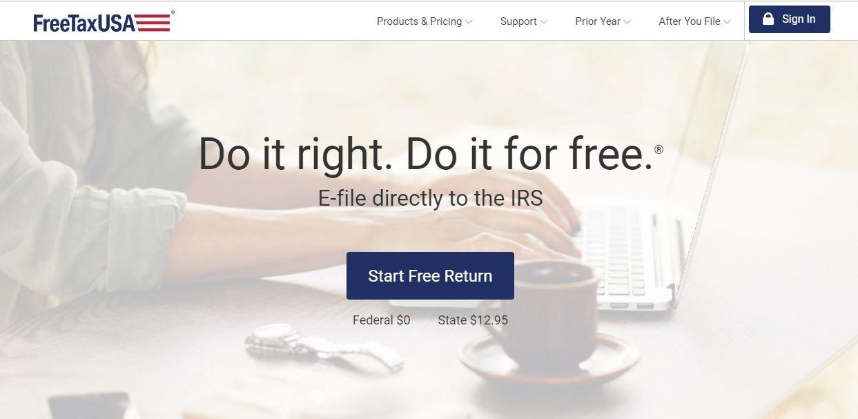 FreeTaxUSA-home-page