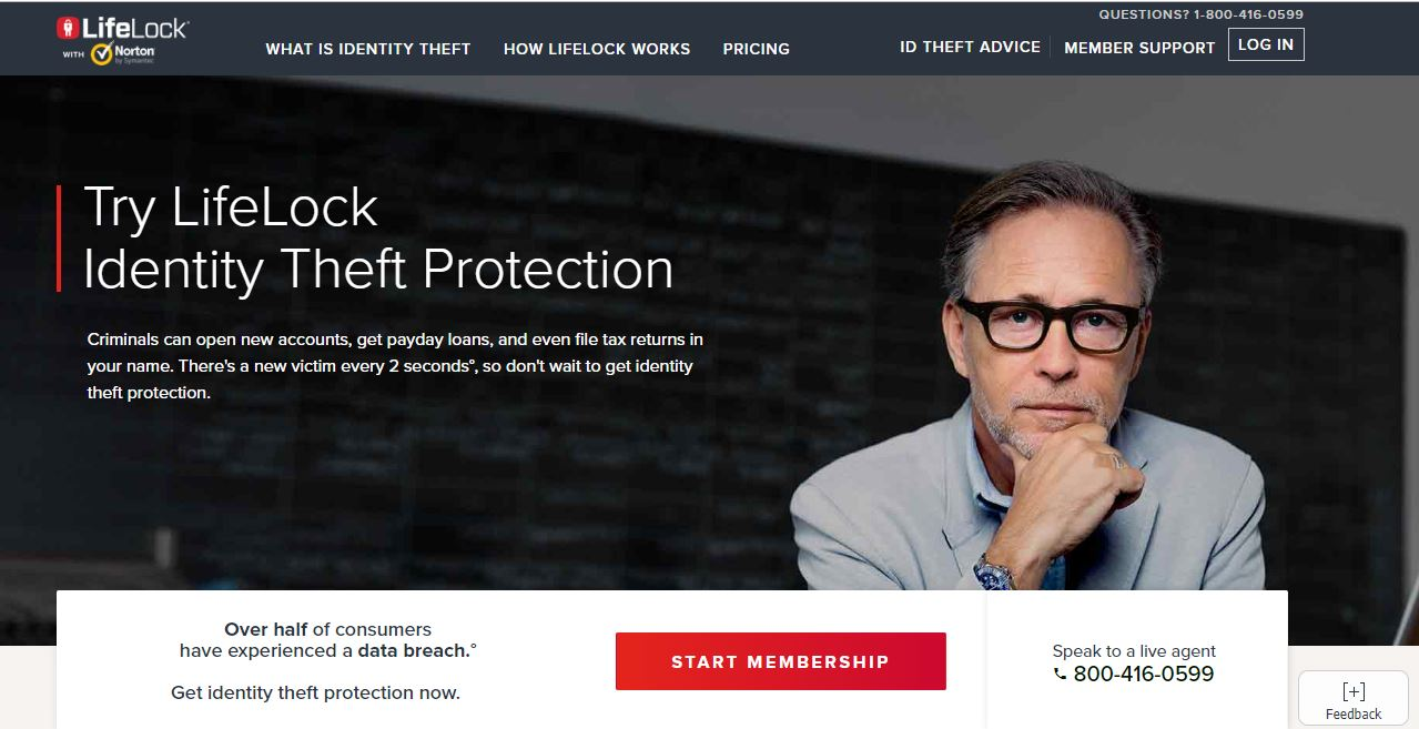 LifeLock-home-page