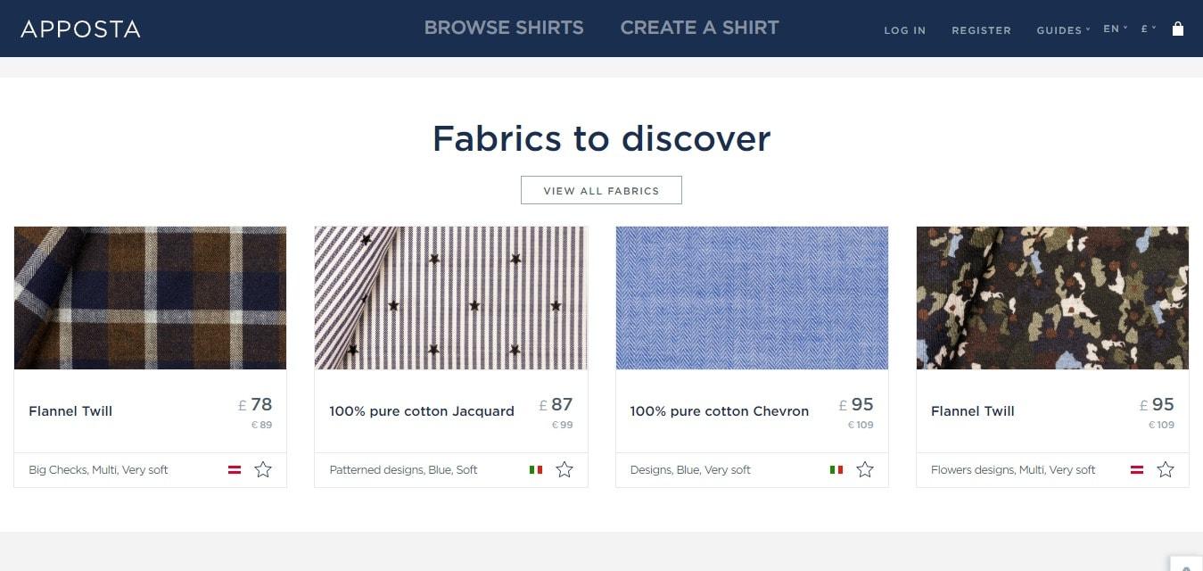 Fabrics to Discover - Apposta shirts