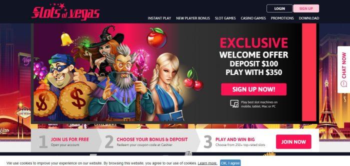 Slots of Vegas coupon codes