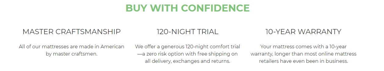 Buy with Confidence - side sleep solution