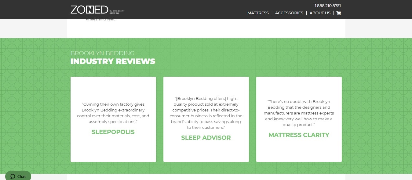 sleep products - industry reviews
