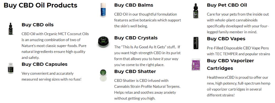 Healthworx CBD Oil Coupons Codes-Healthworx Cbd Oil Products