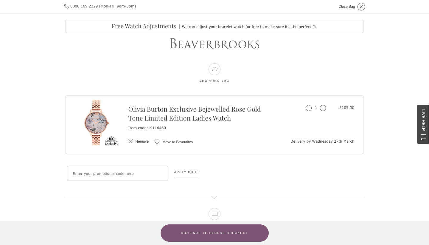 Beaverbrooks Discount Coupon Codes October 2020: UP TO 50% OFF (FREE SHIPPING)