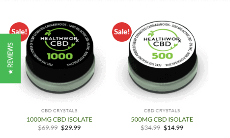 Healthworx CBD Oil Coupons Codes-CBD Oil Crystals