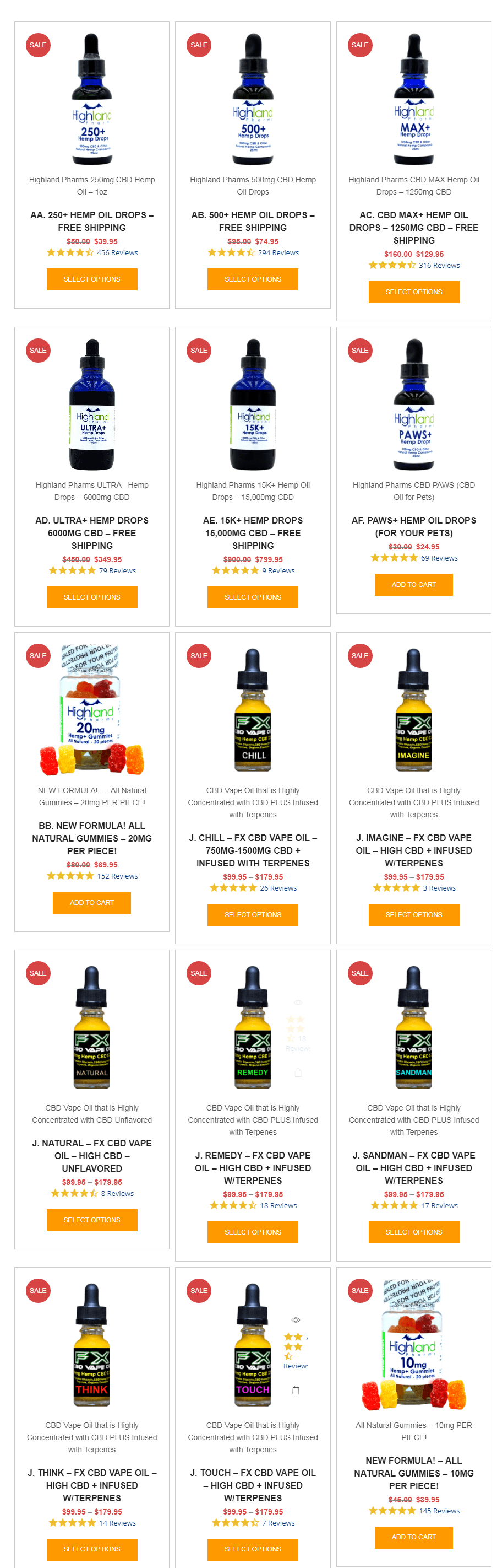 Highland Pharms Coupon Codes-CBD Hemp Oil