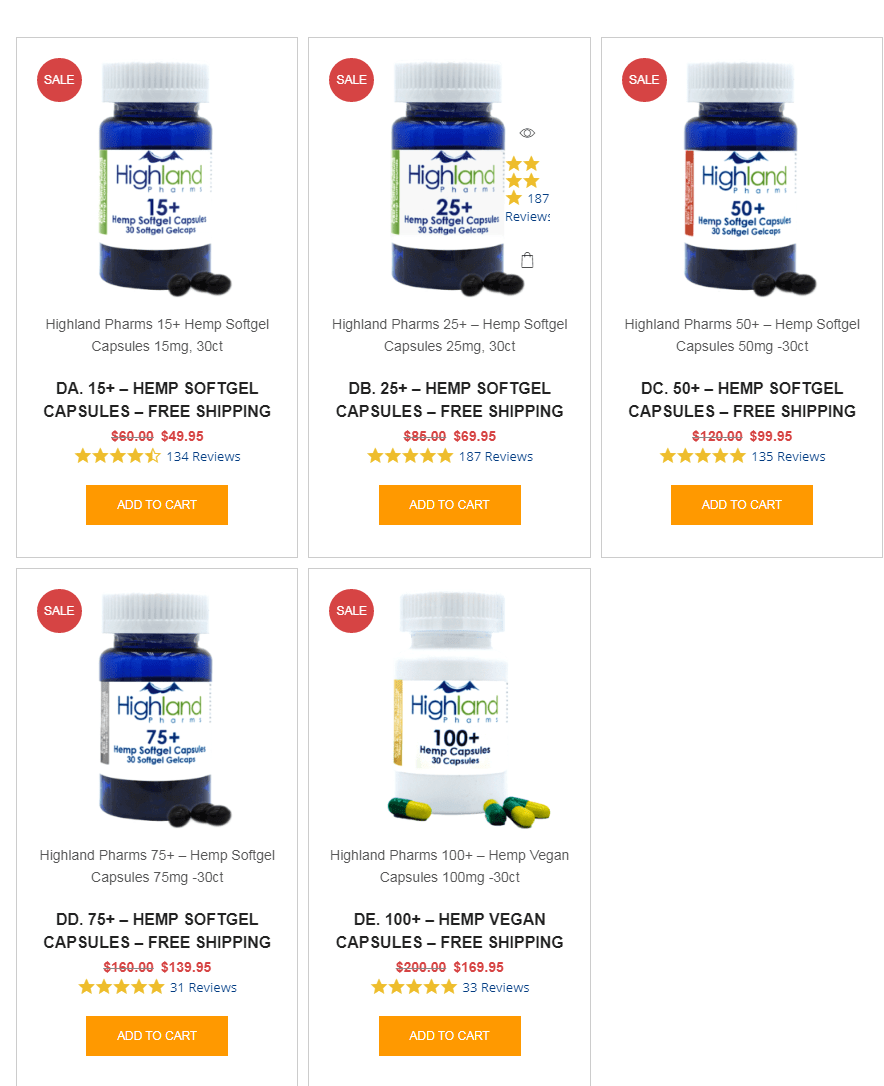 Highland Pharms Coupon Codes-CBD Capsule